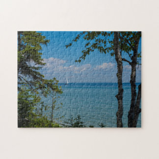 Sailing At Mackinac Jigsaw Puzzle
