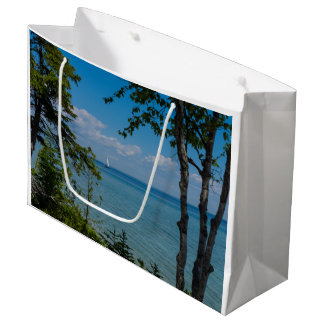 Sailing At Mackinac Large Gift Bag