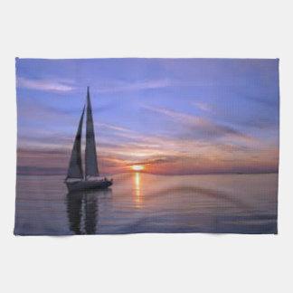 Sailing at Sunset Kitchen Towel