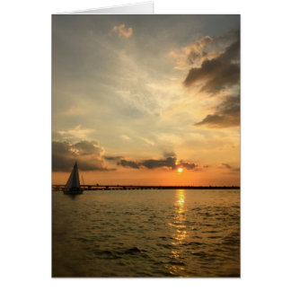 Sailing at Sunset, Notecard