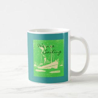 Sailing away basic white mug