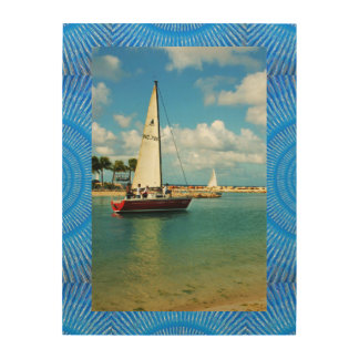 """Sailing Away Marvin 18""""x24"""" Wood Wall Art Wood Canvases"""