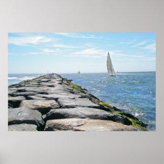 Sailing Barnegat Inlet Poster