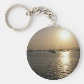 Sailing Basic Round Button Keychain