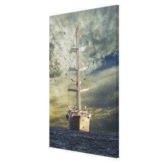 Sailing battleship canvas print
