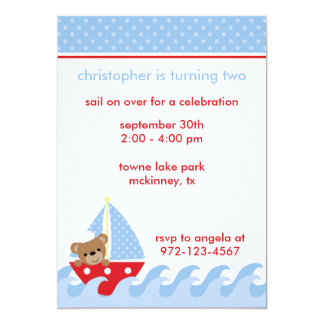 Sailing Bear Invitation