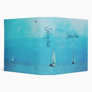 sailing blue vinyl binders