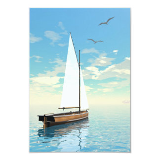 Sailing boat - 3D render Card
