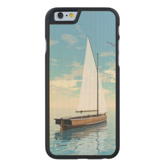 Sailing boat - 3D render Carved Maple iPhone 6 Case