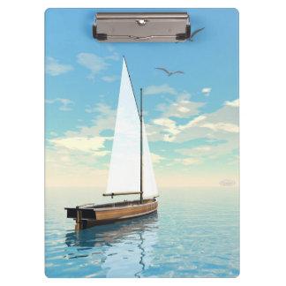 Sailing boat - 3D render Clipboard