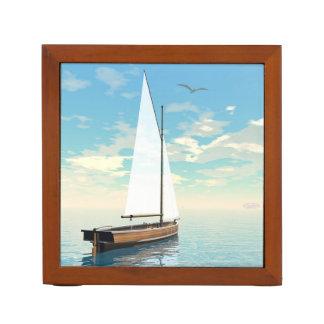 Sailing boat - 3D render Desk Organizer