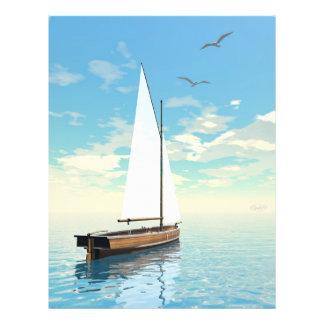 Sailing boat - 3D render Flyer
