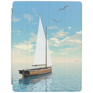 Sailing boat - 3D render iPad Cover