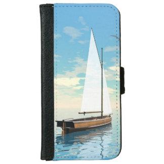 Sailing boat - 3D render iPhone 6 Wallet Case