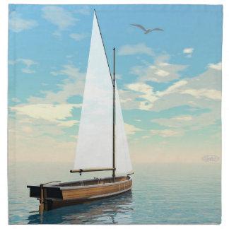 Sailing boat - 3D render Napkin
