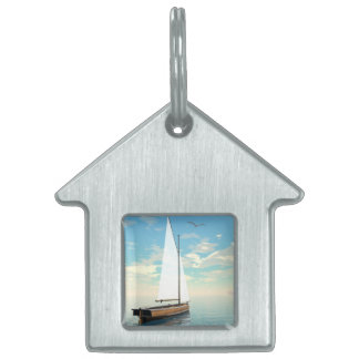 Sailing boat - 3D render Pet Tag