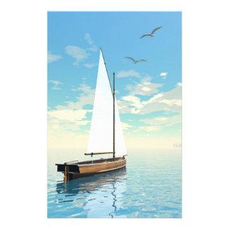 Sailing boat - 3D render Stationery