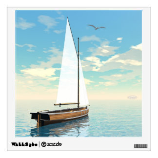 Sailing boat - 3D render Wall Decal