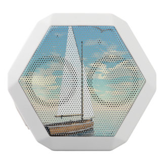 Sailing boat - 3D render White Bluetooth Speaker