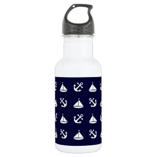 Sailing boat and anchor pattern 532 ml water bottle