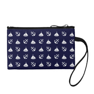 Sailing boat and anchor pattern coin purse