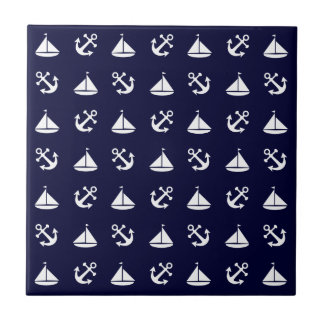 Sailing boat and anchor pattern tiles