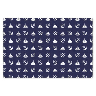 Sailing boat and anchor pattern tissue paper