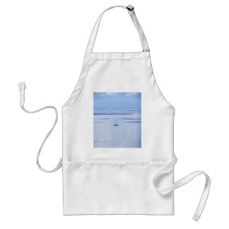 Sailing boat on sea, Nautical, blue water sky Standard Apron