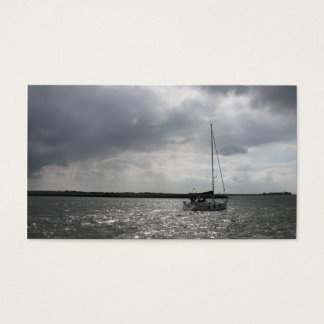 Sailing Boat Storm Sky Small Photo Card