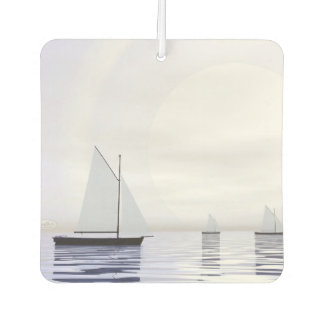 Sailing boats - 3D render Car Air Freshener