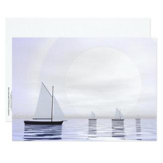 Sailing boats - 3D render Card