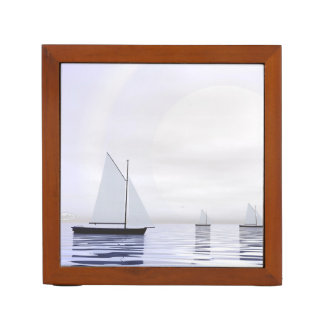 Sailing boats - 3D render Desk Organizer