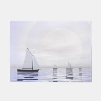 Sailing boats - 3D render Doormat