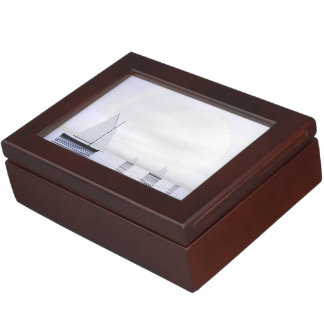 Sailing boats - 3D render Keepsake Box