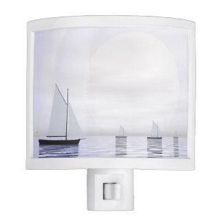 Sailing boats - 3D render Night Lights