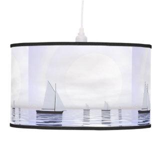 Sailing boats - 3D render Pendant Lamp