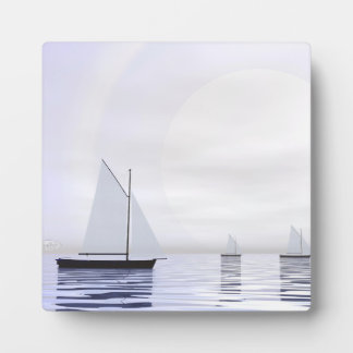 Sailing boats - 3D render Plaque