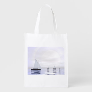 Sailing boats - 3D render Reusable Grocery Bag