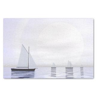 Sailing boats - 3D render Tissue Paper