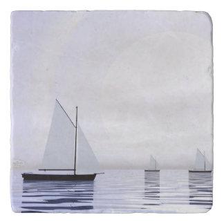 Sailing boats - 3D render Trivet