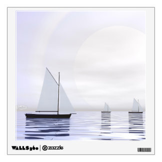 Sailing boats - 3D render Wall Decal