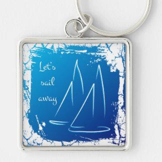 sailing boats - let's sail away keychain