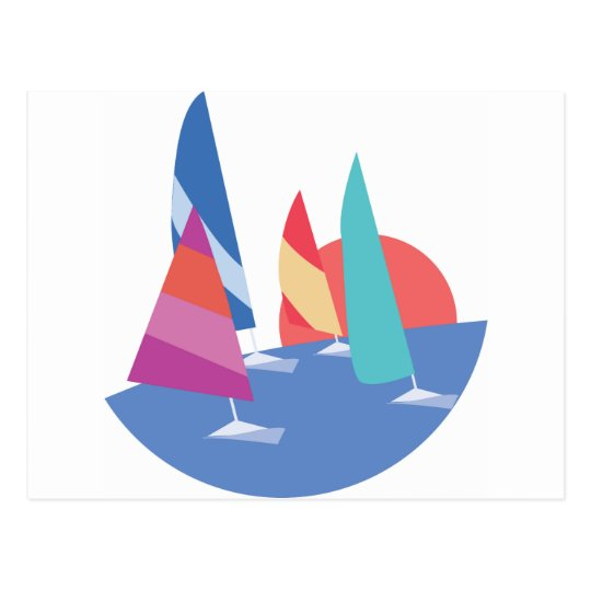 Sailing Boats Postcard