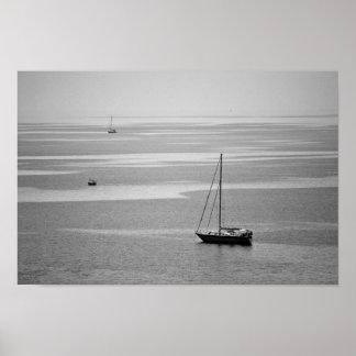 Sailing boats poster