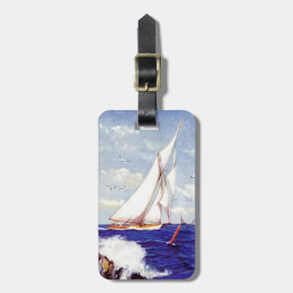 Sailing By The Lighthouse by Albert B. Marks Bag Tag