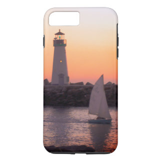 Sailing by the Santa Cruz Lighthouse at Sunset iPhone 8 Plus/7 Plus Case