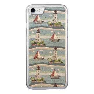 Sailing Carved iPhone 8/7 Case