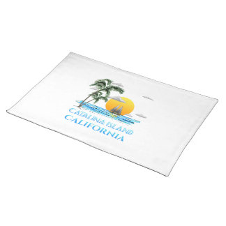 Sailing Catalina Island California Sailboat Placemat