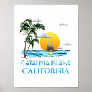 Sailing Catalina Island California Sailboat Poster