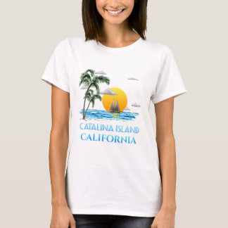 Sailing Catalina Island California Sailboat T-Shirt